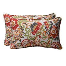 Multicolor Accent Pillows Pillow Perfect Home Fashions Indoor Outdoor Se... - $50.70