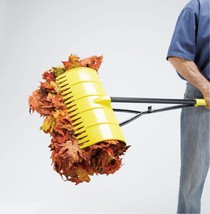 Pickup Rake Lightweight Ergonomic Yard Tool Trash Leaves Debris Upright ... - $56.21