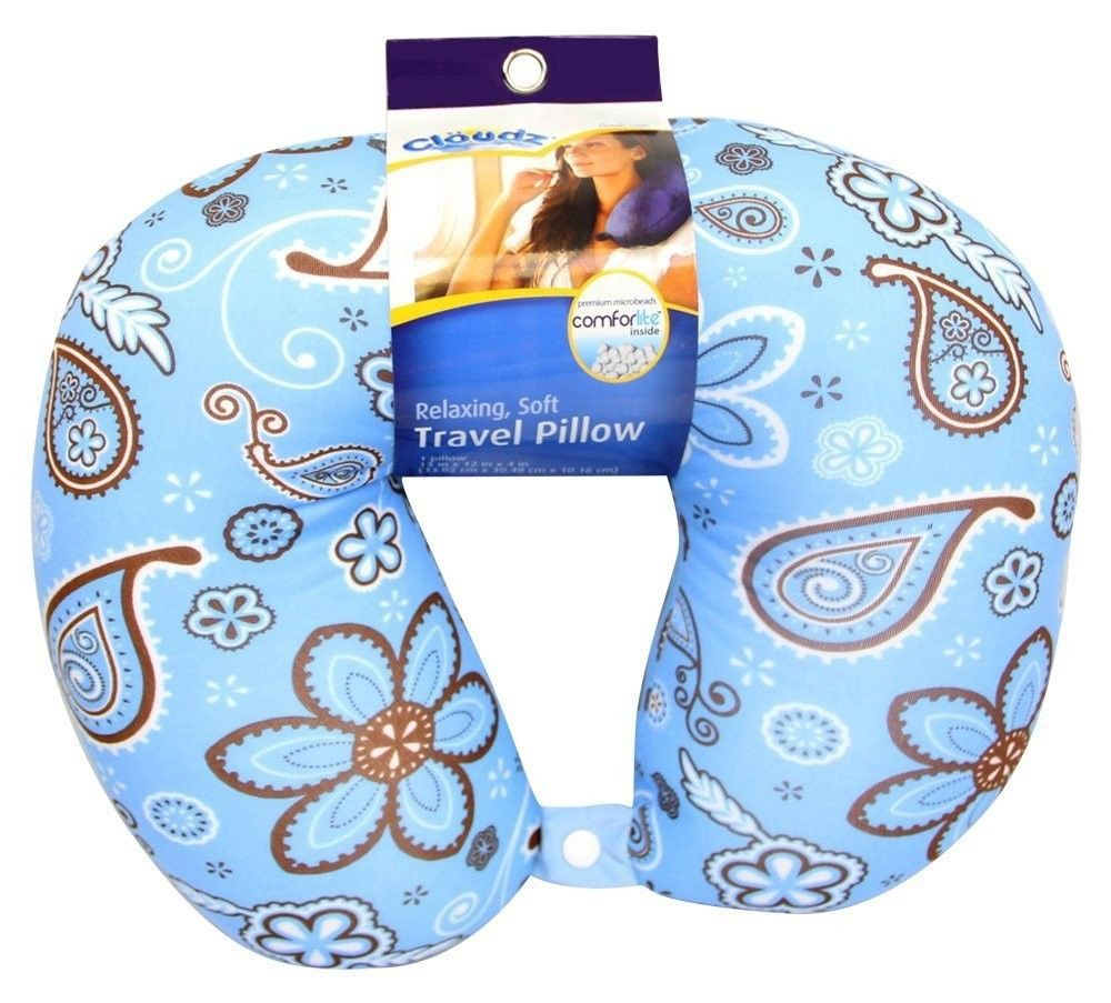 Travel Neck Pillow Microbead Neck Rest Pillow Chiropractic Therapy Pillow