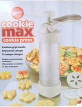 Wilton Cookie Max Cookie Press White 12 disc selections unique designs - $13.98