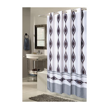 Shower Stall-Sized, EZ-ON Harlequin Polyester Shower Curtain 1301-SCEZ-S... - $28.54