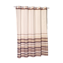 EZ-ON Stripes Polyester Shower Curtain in Brown 1301-SCEZ-STR-13 - $28.48