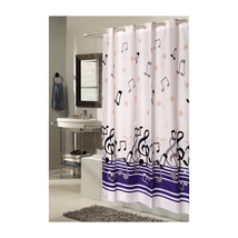 Extra Long, EZ-ON Blue Note Polyester Shower Curtain 1301-SCEZ-XL-BLN - $33.49