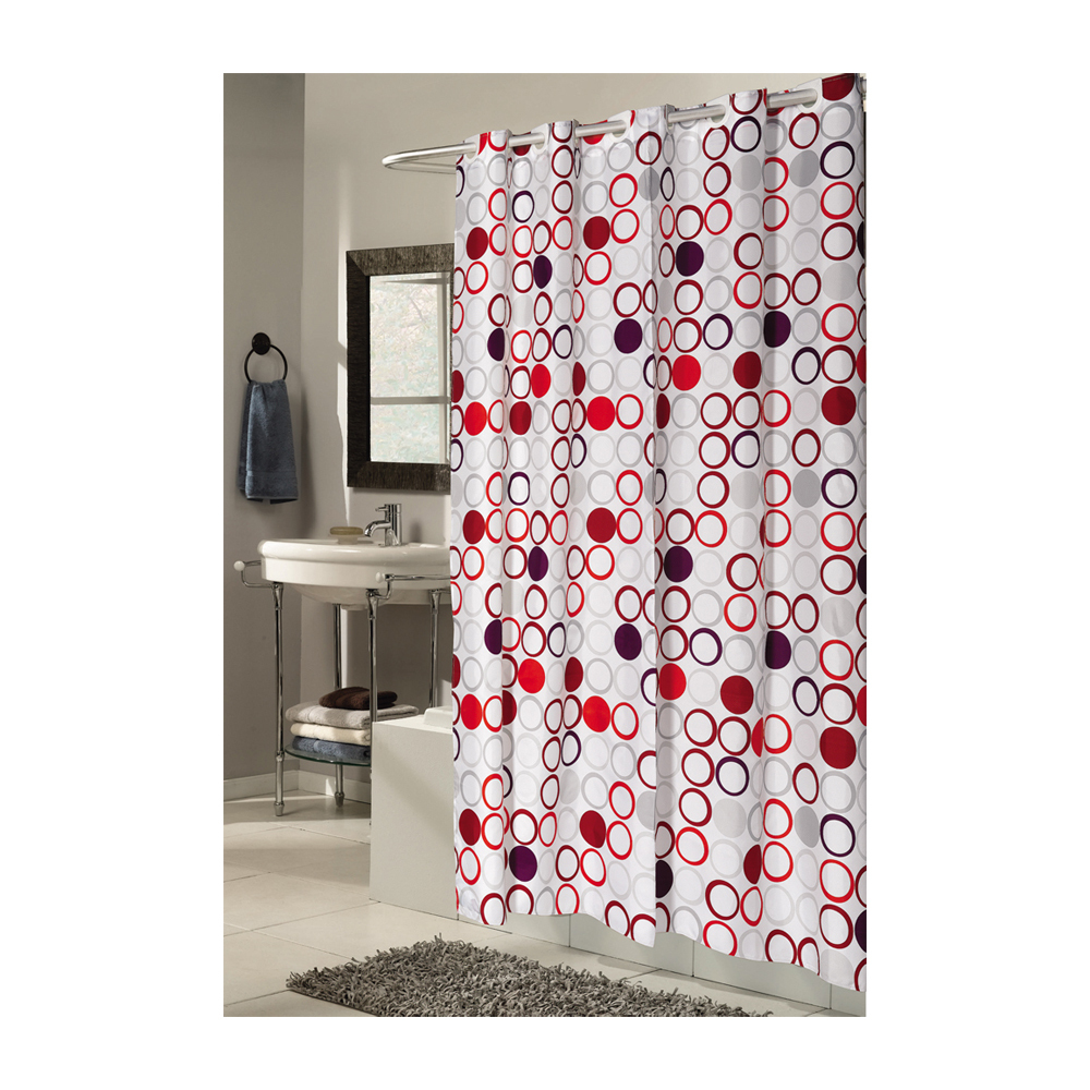 Extra Long, EZ-ON Bohemia Polyester Shower Curtain 1301-SCEZ-XL-BOH