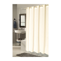 Extra Long, EZ-ON Checks Polyester Shower Curtain in Ivory 1301-SCEZ-XL-... - $28.35
