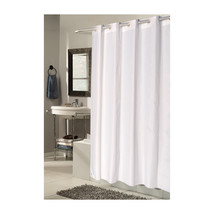 Extra Long, EZ-ON Checks Polyester Shower Curtain in White 1301-SCEZ-XL-... - $29.85