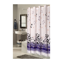 Extra Wide, EZ-ON Blue Note Polyester Shower Curtain 1301-SCEZ-XW-BLN - $36.09