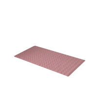 Small 13'' x 20' Slip-Resistant Rubber Bath Tub Mat - Rose 1301-TM-DSM-28 - $20.99