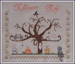 Halloween Night cross stitch chart The Shop Around The Corner - $12.60