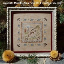 Stoat In Alpine Grasses cross stitch chart Filigram - $9.90
