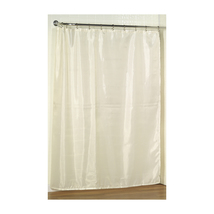 Standard-Sized Polyester Fabric Shower Curtain in Ivory 1301-SC-FAB-08 - $21.97