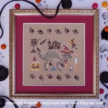 A Dark Cat Collection cross stitch chart Filigram - $7.20