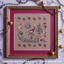A Christmas of a Cat cat collection cross stitch chart Filigram - $7.20