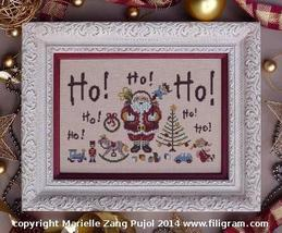 Ho Ho Ho christmas cross stitch chart Filigram - $9.90