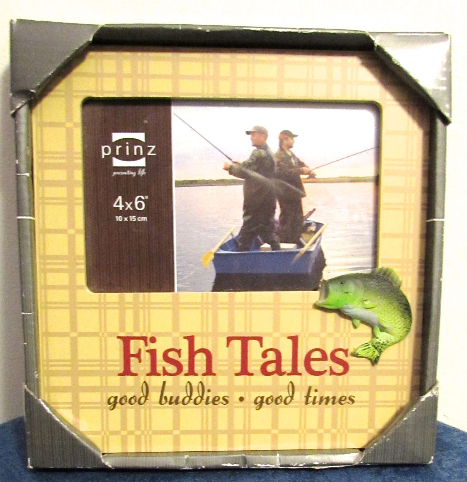 Prinz Fish Tales Resin Wood Frame Beige 4 x 6 Fishing