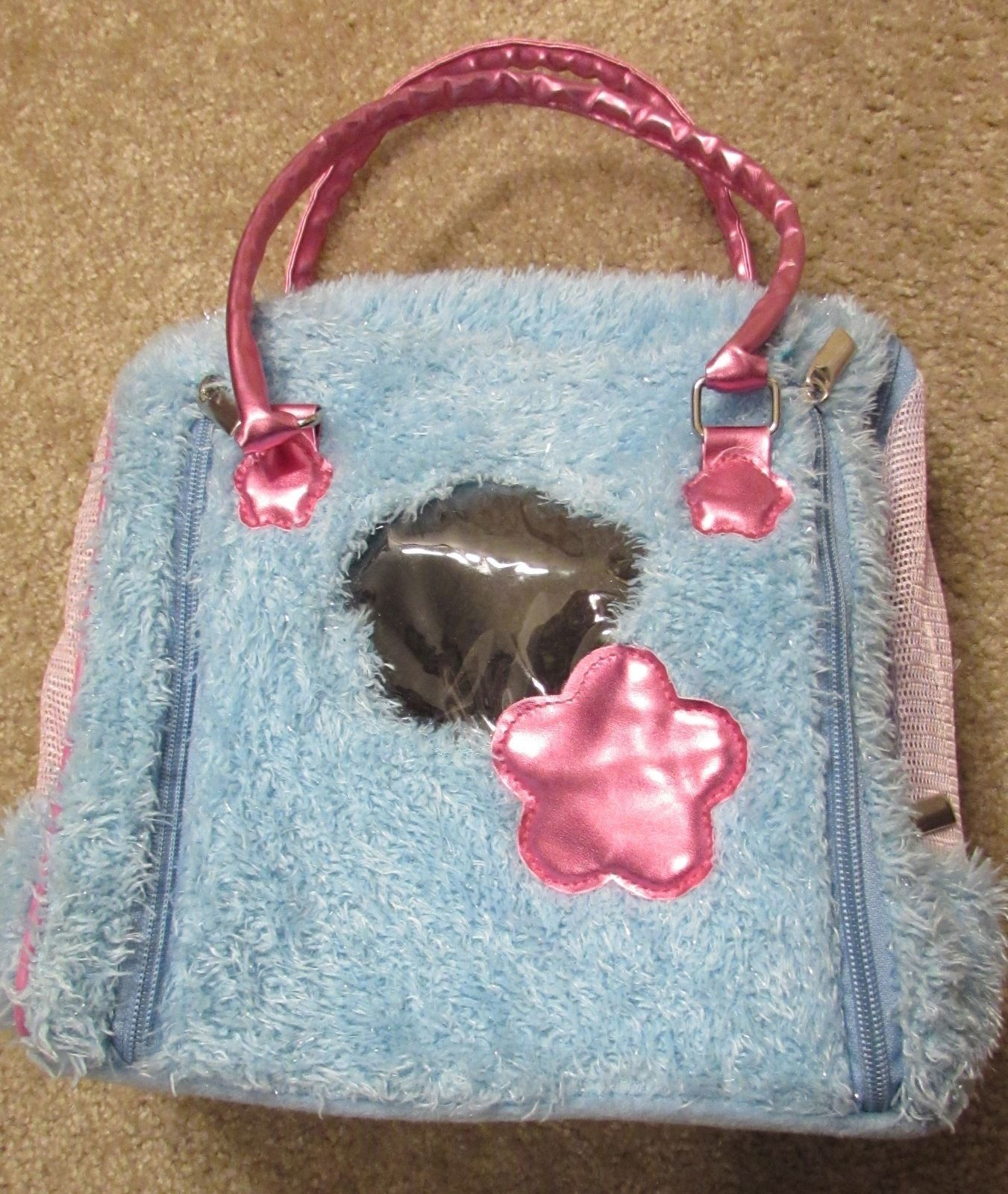 "Pucci Pups ""Plush Blue"" Pet Carrying Bag by Battat"