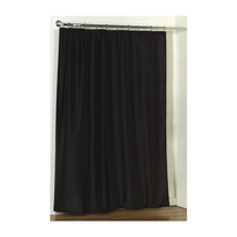 Standard-Sized Polyester Fabric Shower Curtain Liner in Black 1301-SC-FA... - $27.45
