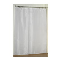 Standard-Sized Polyester Fabric Shower Curtain Liner in White 1301-SC-FA... - $26.84