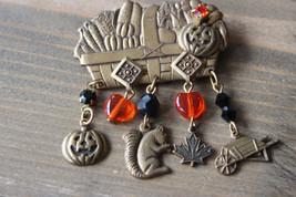 Vintage Halloween Brooch Pin Size: 4.5cm x 4.5cm - $19.79