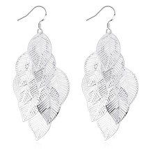 Fashion Jewelry Gold/Silver Women Drop Earrings Leaves Slice Hook Earring - $9.79
