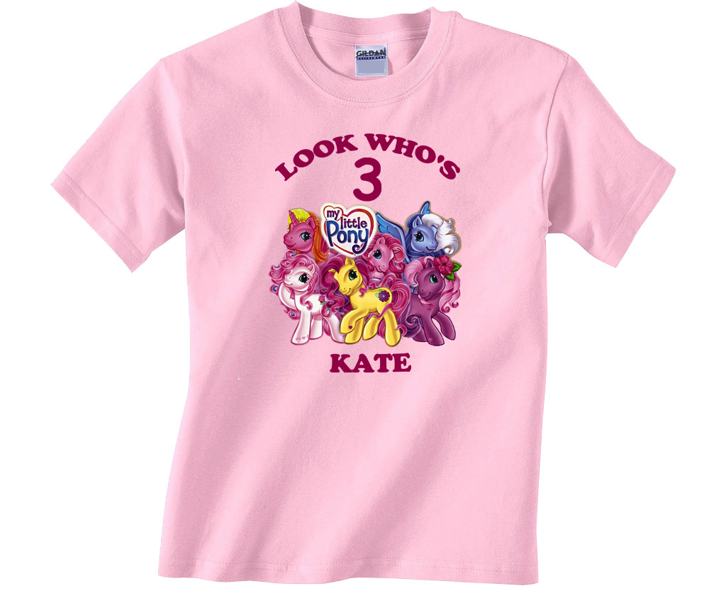 Used, My Little Pony Personalized Light Pink Birthday Shirt for sale  USA