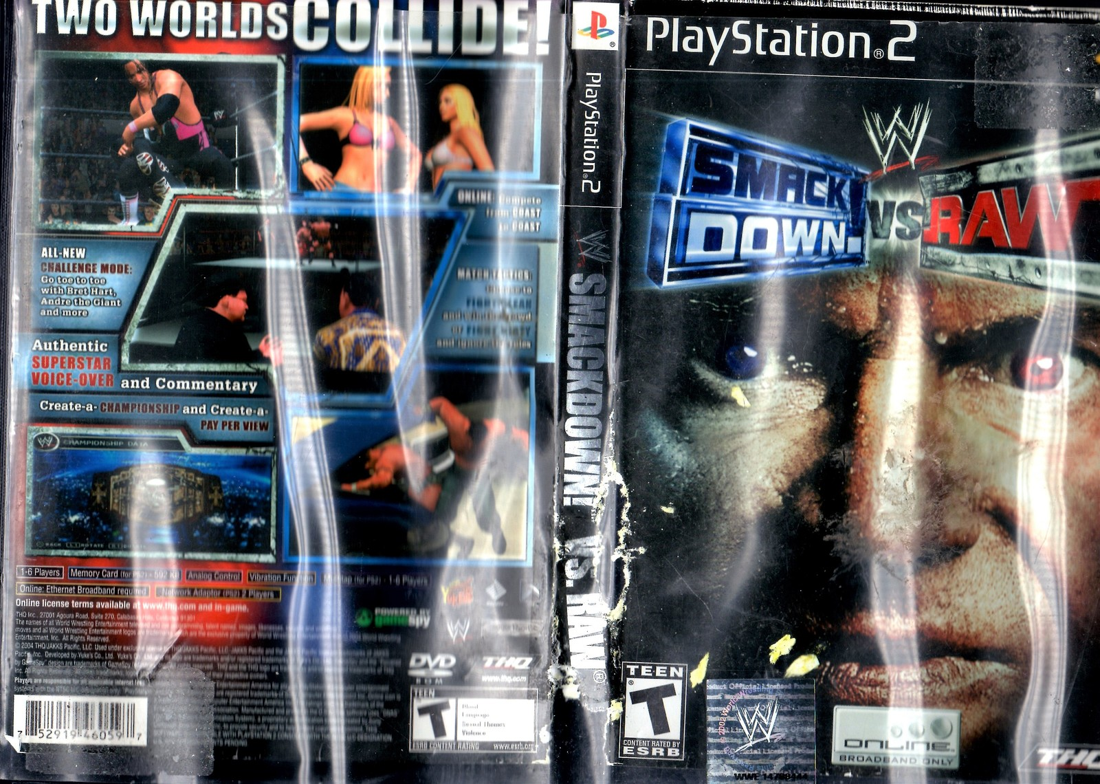 PlayStation 2  - SMACK DOWN vs RAW