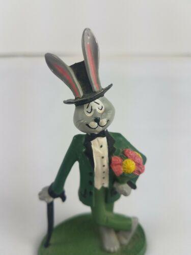 Hallmark Debonaires Debonaire Rabbit Metal Sculptures Lot of 3 Lady Pair Hare image 9