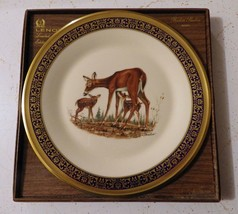 Lenox - Whitetail Deer - Annual Limited Woodland Wildlife Plate - 1978 w/Box - $15.83