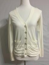 New Anthropologie Leifsdottir White Buttondown Cardigan Sweater Sz S 4 6 * - $39.55