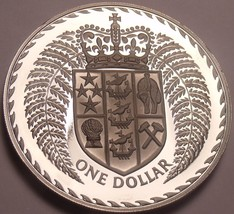 Rare Cameo Proof New Zealand 1975 Dollar~Only 10,000 Minted~Fantastic~Fr... - $26.13