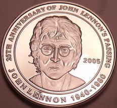 Cameo Proof Cook Islands Commemorative Silver Medallion~John Lennons Pas... - $20.21