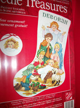 Craft Holiday Needle Treasures Kit Christmas Pageant Stocking Cross Stit... - $28.49