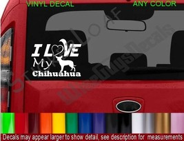 I Love my Chihuahua DOG Decal Sticker heart DOGS Puppy pets rescue decals pet - $8.99