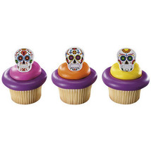 Skeleton and Dia De Los Muertos Cupcake Rings - $2.99