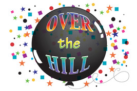 Over The Hill Balloon Edible Image Cake Topper - €7,70 EUR