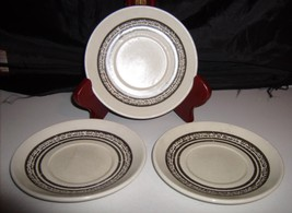 Bilton Ironstone Tableware Staffordshire England 3 Saucers Brown Inner Rings - $10.00