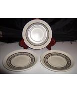Bilton Ironstone Tableware Staffordshire England 3 Saucers Brown Inner R... - $10.00