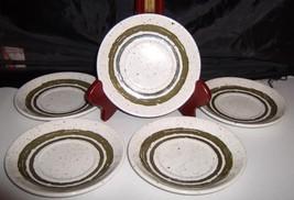 """Bilton Ironstone Tableware Staffordshire England 5.5"""" Saucers Olive Inne... - $15.00"""
