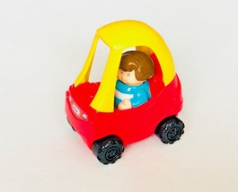 2003 Little Tikes Cozy Car Red Yellow With Driver Made for Burger King - $5.93