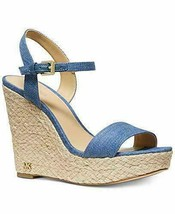 Women's Michael Kors Jill Wedge Sandals Light Denim, Size 7, NEW - $78.39