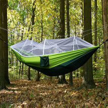 Double Person Travel Outdoor Camping Tent Hanging Hammock Bed W/ Mosquit... - $18.76