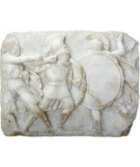 Greek Hoplites in Battle Replica Wall Plaque Scultpure - $197.99