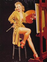AL BUELL PIN-UP GIRL POSTER SEXY ARTIST PAINTING! SEXY HOT PHOTO ART PRINT! - $11.87