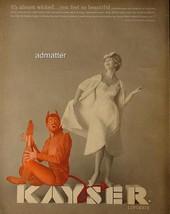 1959 Kayser Lingerie Ad Vintage Advertisement with Red Devil! - $7.91