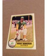 1981 Fleer #574 Ricky Henderson 2nd year card - A's NM/Mint Set Break Gr... - $9.95