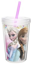 Back to School Insulated Tumbler 13-oz Frozen movie drink lunch lid pink... - $19.79
