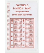 Southold Savings Bank New York 1968 pocket advertising calendar - $5.00