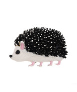 Black Enamel Hedgehog Brooches For Women Lovely Animal Fashion Jewelry P... - $14.23