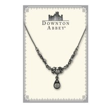 Downton Abbey Collection Hematite Crystal Drop Necklace Free Shipping 17520 - $30.57