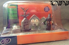 Lemax Spooky Town Halloween Grim Reaper Countdown Set of 7 Pieces Signat... - $20.99